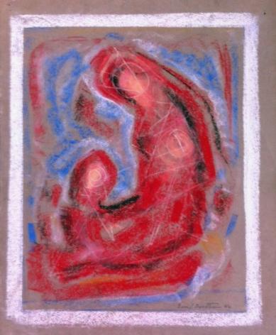 Sold Emil Bisttram 1956 untitled pastel.