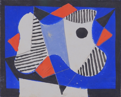 Vaclav Vytlacil 1938 tempera and gouache abstraction.