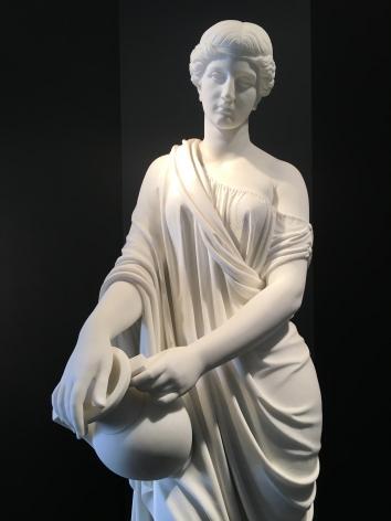 Woman of Samaria white marble sculpture by William Rinehart.