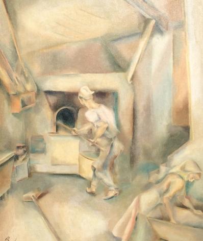 """John Barber oil painting """"Bread Bakers""""."""