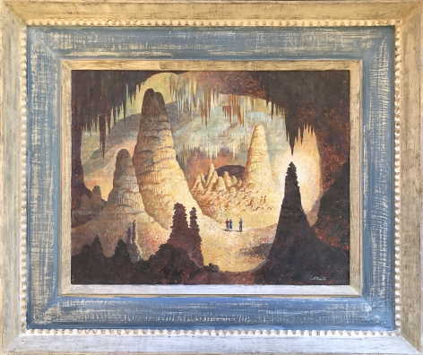 """Frame view of """"The Cavern"""" by John Atherton."""