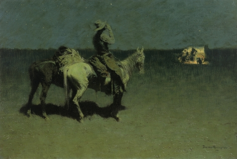 """Frederic Remington sold 1899 painting entitled """"The Stranger""""."""
