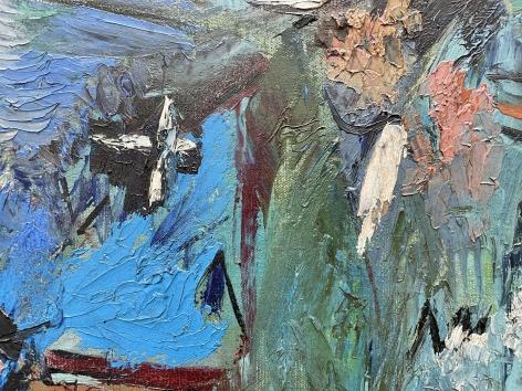 "Closeup detail of ""Subjective Farm Landscape"" by Ralph Rosenborg."
