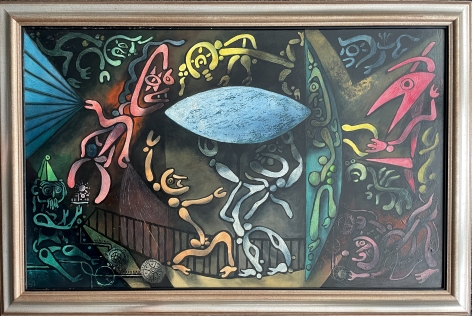 """Frame on """"Inevitable Day - Birth of the Atom"""" by Julio De Diego."""