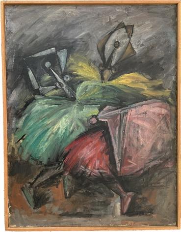 """Frame on """"Ballerinas"""" by Hans Burkhardt."""