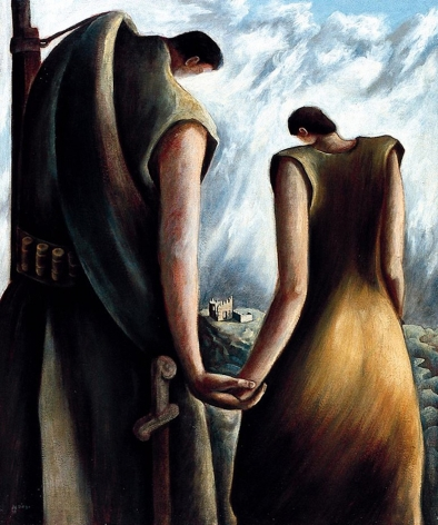 Homage to the Spanish Republic 1938 oil painting by Julio De Diego.