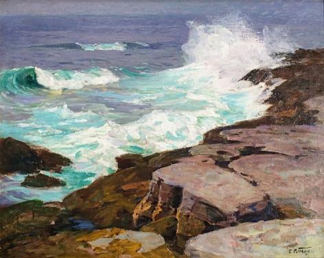 Surf at Low Tide by Edward Potthast.