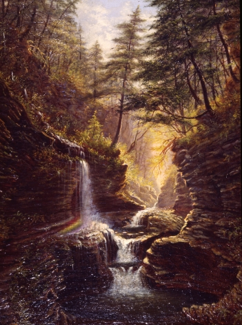"""Sold painting by James Hope entitled """"Rainbow Falls""""."""