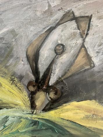 "Detail of ""Ballerinas"" by Hans Burkhardt."