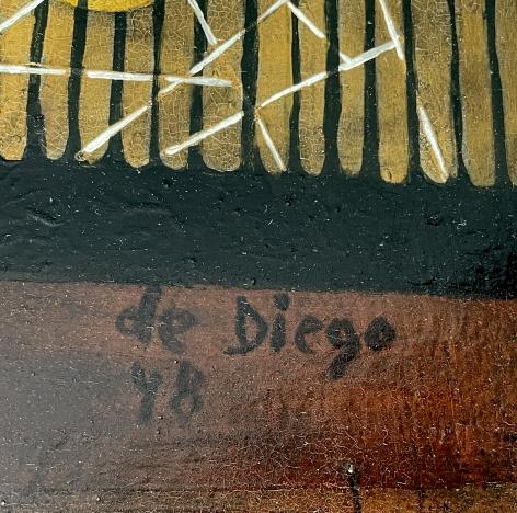 "Signature on ""St. Atomic"" by Julio De Diego."