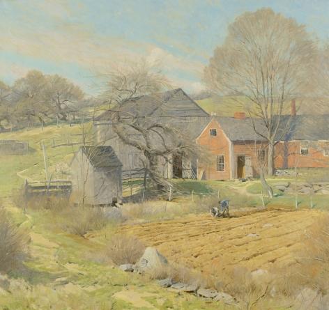 Red House, Rindge, NH by Ogden Pleissner.