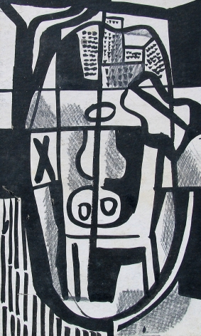 Vaclav Vytlacil untitled abstract black and white painting 019.