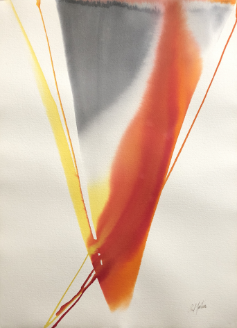 "Paul Jenkins watercolor entitled ""Phenomena Arezzo Revisited""."