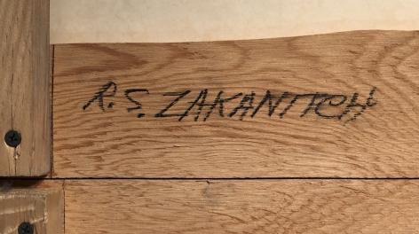 """Signature on """"Tiger Falls"""" by Robert Zakanitch."""