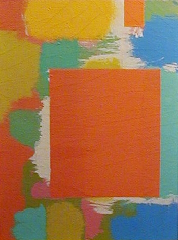Carl Holty untitled circa 1965 oil painting.