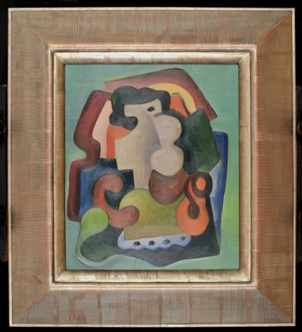 Frame on Untitled Abstraction by Louis Stone.