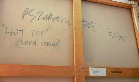 """Signature verso on """"Hot Top"""" from his Copa Series by Robert Zakanitch."""