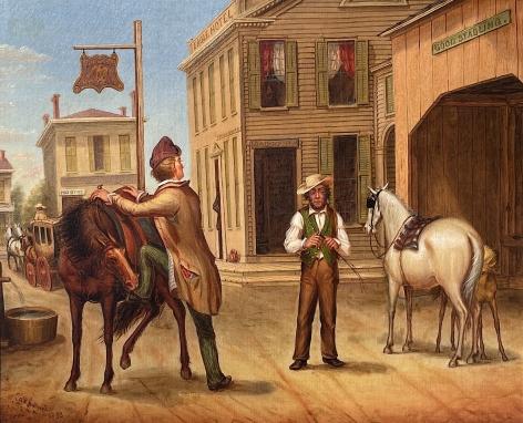 Horse Trade Scene by Otis Bullard.