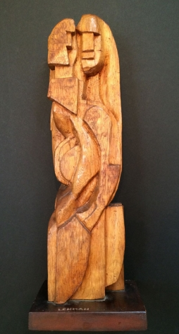 "Wood sculpture entitled ""Ancienne Noblesse"" by Irving Lehman."
