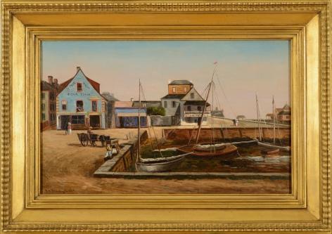 """Frame on """"The Plaza Basin"""" by Frank Shapleigh."""