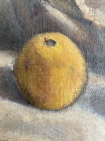 """Detail of """"Blue Compote"""" by Henry Lee McFee."""