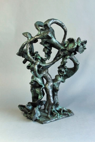 "Yulla Lipchitz bronze sculpture entitled ""Woman Dancing About Trees""."