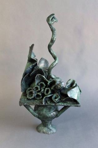 """Yulla Lipchitz bronze entitled """"Cobra""""."""