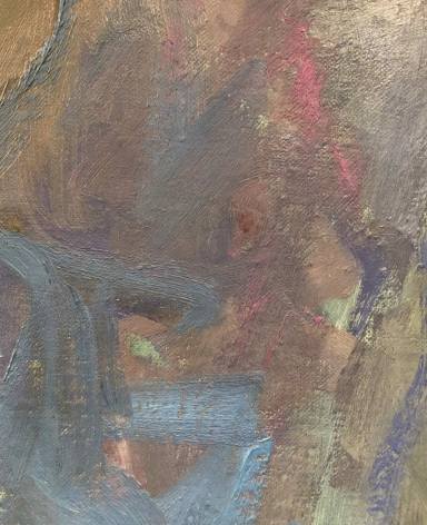 Close-up detail of Bells of San Miguel de Allende painting by Hans Burkhardt.