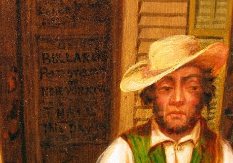 Close up of advertisement for Otis Bullard's Panorama in Horse Trade Scene.