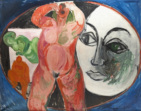 Untitled 1966 oil painting by Miriam Laufer.