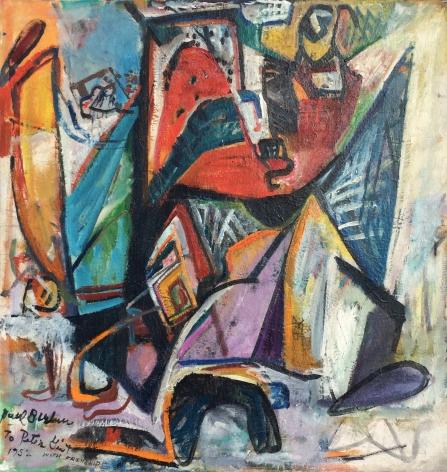 "Paul Burlin painting entitled ""Composition""."