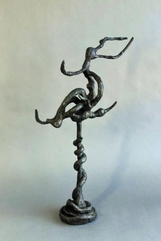 "Yulla Lipchitz bronze entitled ""Snake & Bird Twined on Branch #2""."
