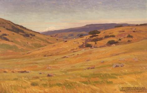 Sold 1915 oil landscape by William Wendt.