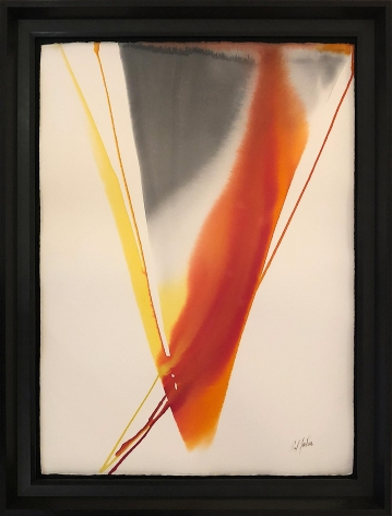 """Frame of """"Phenomena Arezzo Revisited"""" watercolor by Paul Jenkins."""