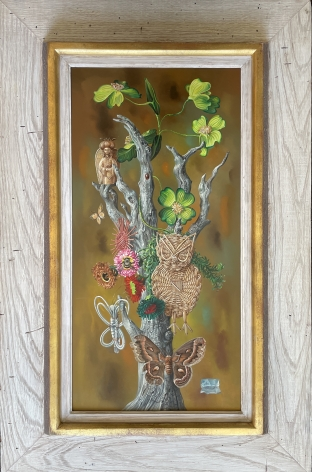 """Frame on """"Tree of Life"""" by Aaron Bohrod."""