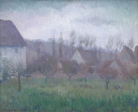 """""""Farm Orchard in Winter Giverny"""" by Theodore Earl Butler."""