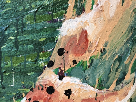 "Detail of ""Tiger Falls"" by Robert Zakanitch."