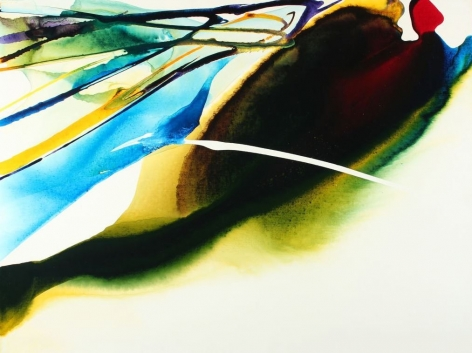 """Paul Jenkins painting entitled """"Phenomena Point to Cross By""""."""