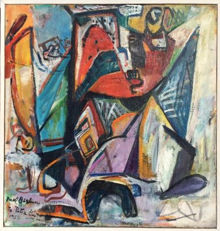 """Frame on """"Composition"""" by Paul Burlin."""