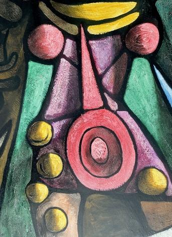 "Detail of ""Ceremonial Dancers"" by Julio De Diego."
