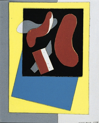 Vaclav Vytlacil sold archive 1936 untitled collage.