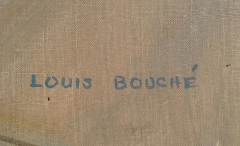 """Signature on """"Judgement of Paris"""" by Louis Bouche."""