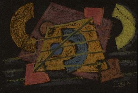 Untitled pastel by Werner Drewes.
