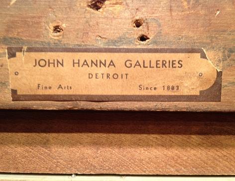 John Hanna Galleries label verso Haymakers Zeeland.