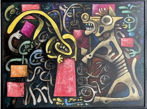 """Frame on """"Trojan Horse - Equestrian"""" by Julio de Diego."""