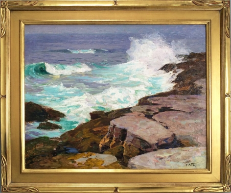 Frame view of Surf at Low Tide by Edward Potthast.