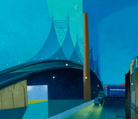 "Ernest Fiene sold painting ""The Bridge""."
