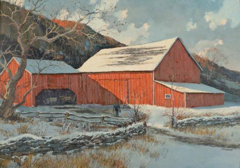 """Barn in Winter"" by Eric Sloane."