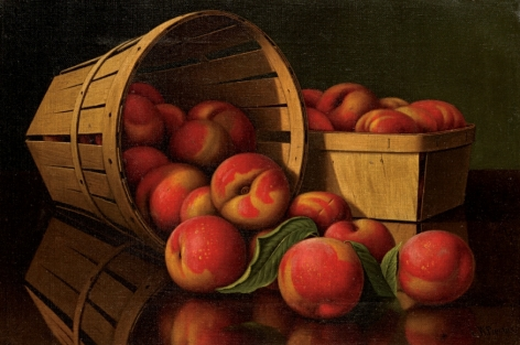 """Levi Wells Prentice sold painting entitled """"Basket of Peaches""""."""