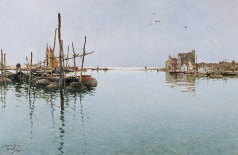 Sold oil painting of Venice by Emilio Sanchez-Perrier.